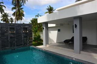 House for sale Pattaya Huay Yai showing the pool and waterfall feature