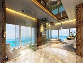 Condominium for sale The Palm Wongamat Pattaya showing the bathroom concept