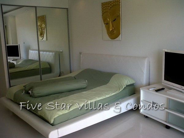 Condominium for rent in Jomtien at VT3 showing the sleeping area