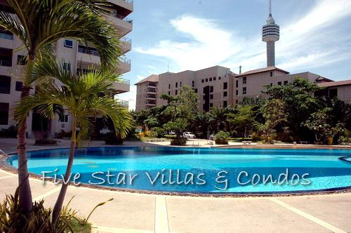 Condominium for rent in Jomtien at VT3 showing the pool