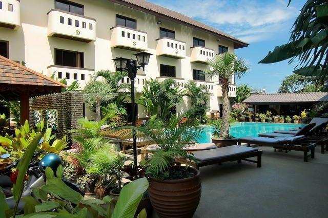 Serviced Apartments For Sale Pattaya showing the pool and terraces