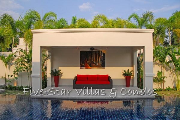 Pool villa for sale in Pattaya at The Vineyard Phase 2 showing the Sala
