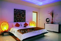 Pool villa for sale in Pattaya at The Vineyard Phase 2 showing bedroom lighting