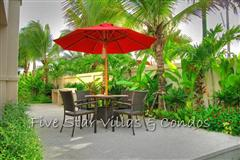 Pool villa for sale in Pattaya at The Vineyard Phase 2 showing terrace dining