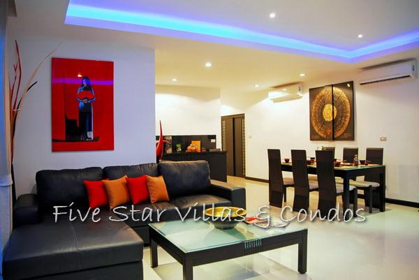 Pool villa for sale in Pattaya at The Vineyard Phase 2 showing the dining area