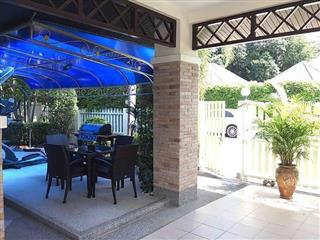 House for sale East Pattaya showing the barbecue area and terraces