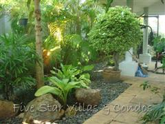 House for rent Pattaya Siam Royal View showing the garden