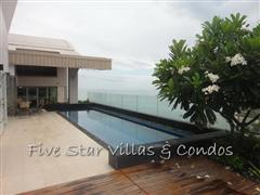 Condominium for rent on Pattaya Beach at Northshore showing the private swimming pool