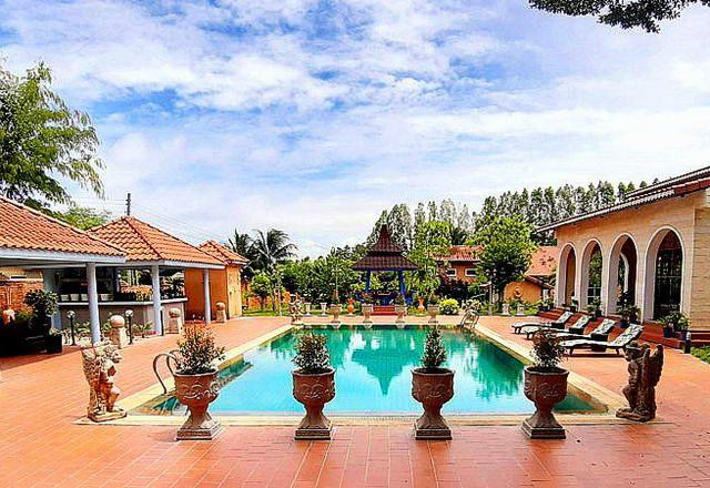 Mediterranean-style resort for sale Silverlake showing the Resort