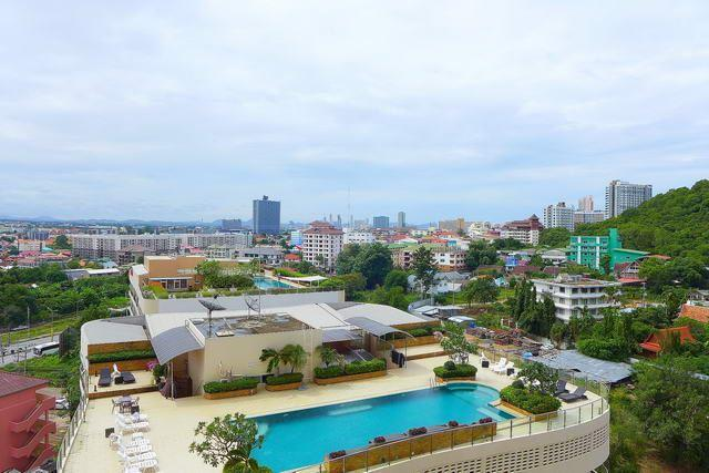 Condominium for sale South Pattaya showing one of the pools