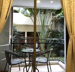 Condominium for sale Pratumnak Hill Pattaya showing the balcony and garden view