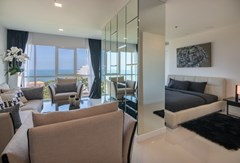 Condominium for sale Pratumnak Pattaya showing the second bedroom with living area