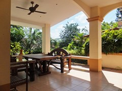 House for rent Mabprachan Pattaya showing the covered terrace