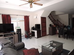 House for sale Pratumnak Hill Pattaya showing the living and office areas