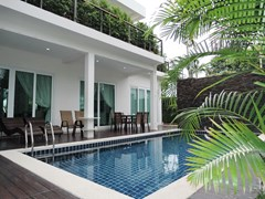 House for Sale Silverlake Pattaya showing the swimming pool and terrace