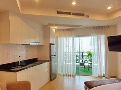 Condominium for sale Pratumnak Hill Pattaya showing the kitchen and balcony areas
