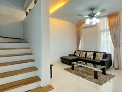 House for rent East Pattaya showing the living area and staircase