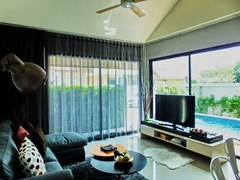 House for sale Huayyai Pattaya showing the living room concept