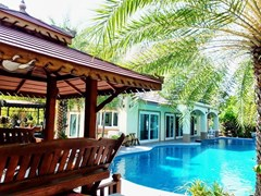 House for Sale Mabprachan Pattaya showing the house, sala and pool