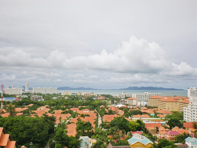 Condominium for rent Jomtien VIEW TALAY 2B showing the balcony view