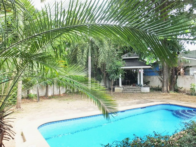 House for rent East Pattaya showing the pool and sala