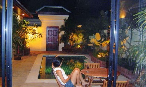 House for rent Jomtien View Talay Villas showing the view at night
