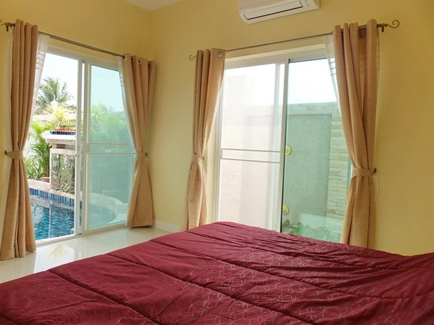 House for Sale East Pattaya showing the second bedroom pool view